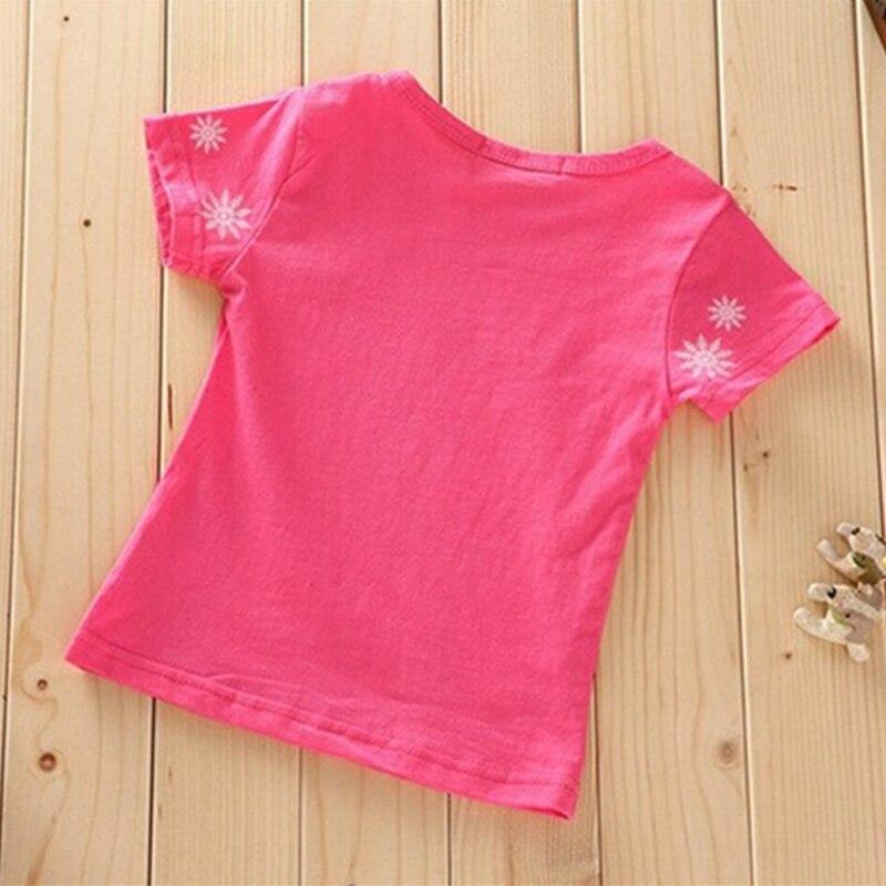 Одежда для девочек с принцессой Эльзой и Анной, футболка, летний комплект из 2 предметов, футболка с короткими рукавами и рисунком+ шорты, детская одежда из хлопка для 3-7 лет