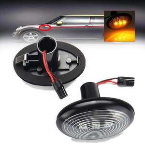 Image 5 - 페어 자동차 LED 사이드 마커 표시기 리피터 라이트 옐로우 턴 신호 경고 램프 미니 R55 용 방수 R56 R57 R58 R59 R60