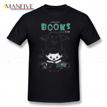 Necronomicon T Shirt Forbidden Books Can Be Fun T-Shirt Fashion 100 Percent Cotton Tee Big Cute Printed Male Tshirt