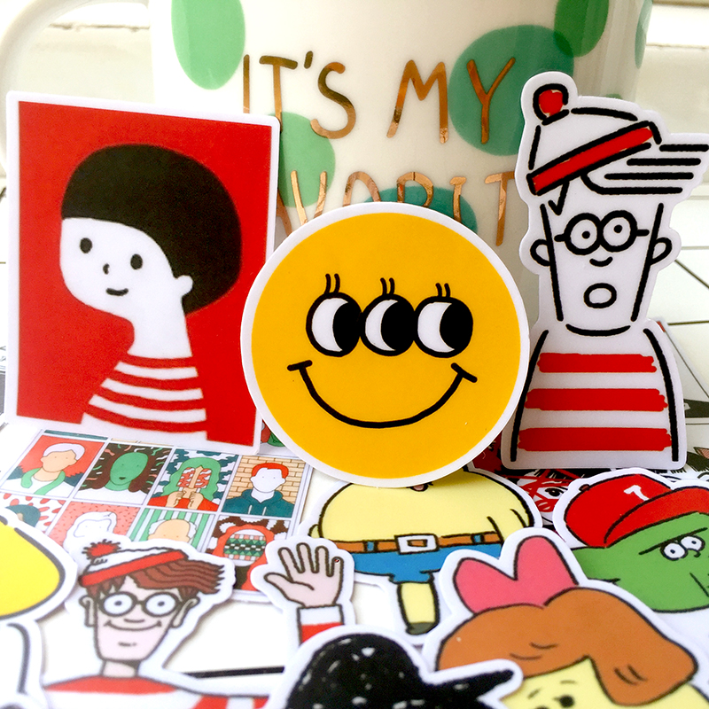 21PCS Funny And Cute Stickers Crafts And Scrapbooking Stickers Book Student Label Decorative Sticker Kids Toys