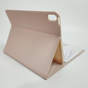 Image 5 - Klawiatura Bluetooth przypadku myszy dla iPad Air 4 10.9 8th Gen 2020 Trackpad podświetlenie rosyjski arabski hebrajski hiszpański Tablet klawiatura