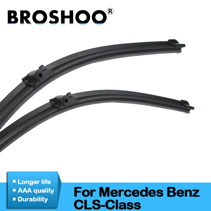 BROSHOO Car Windshield Wiper Blade Natural Rubber For Mercedes Benz <font><b>CLS</b></font> Class <font><b>W219</b></font> W218 Auto <font><b>Accessories</b></font> From 2004 To 2017 image