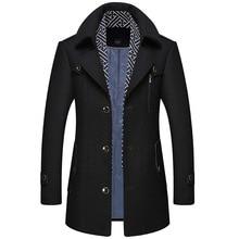 Wool coat man, coat man, men's wool coat, fashion scarf coat, cotton thickened coat, wool coat, winter men's, top man coat ardatex
