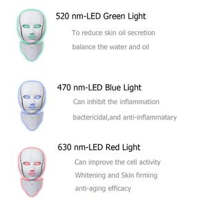 Image 4 - LED Facial Mask Photon Therapy Skin Care Mask with Neck 7 Colors Light Mask Wrinkle Acne Removal Face Beauty Tool