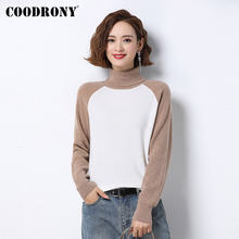 Женский трикотажный пуловер coodrony черный вязаный свитер из