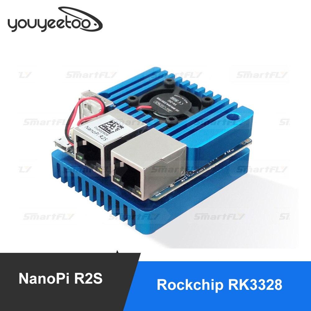 Мини-маршрутизатор для путешествий FriendlyElec Nanopi R2S, OpenWRT с двумя портами Ethernet Gbps, 1 ГБ DDR4, на базе RK3328 Soc для IOT