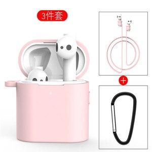 Image 5 - 3 in 1 Silikon Fall Für Xiaomi Airdots 2 2s Wireless Bluetooth Headset Schutzhülle Für Xiaomi Air 2 2s Headset Abdeckung
