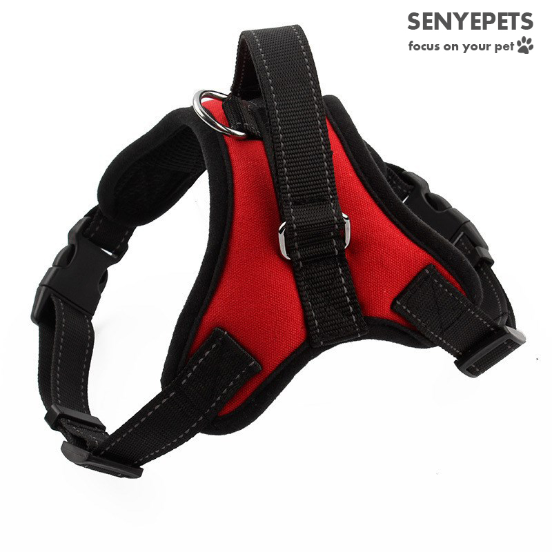 Nylon Heavy Duty Dog Pet Harness Collar Adjustable Padded Extra Big Large Medium Small Dog Harnesses vest Collar Dogs Supplies