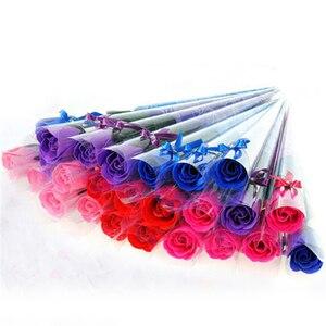 Pétalo de flor de jabón de rosa de baño unids/pack de 30 para boda, Día de San Valentín, día de la madre, regalos para el cuidado del cuerpo y la salud del maestro