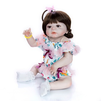 all silicone reborn baby doll toys in Soft white plush clothes lifelike big eyes newborn babies girl dolls Most popular gift