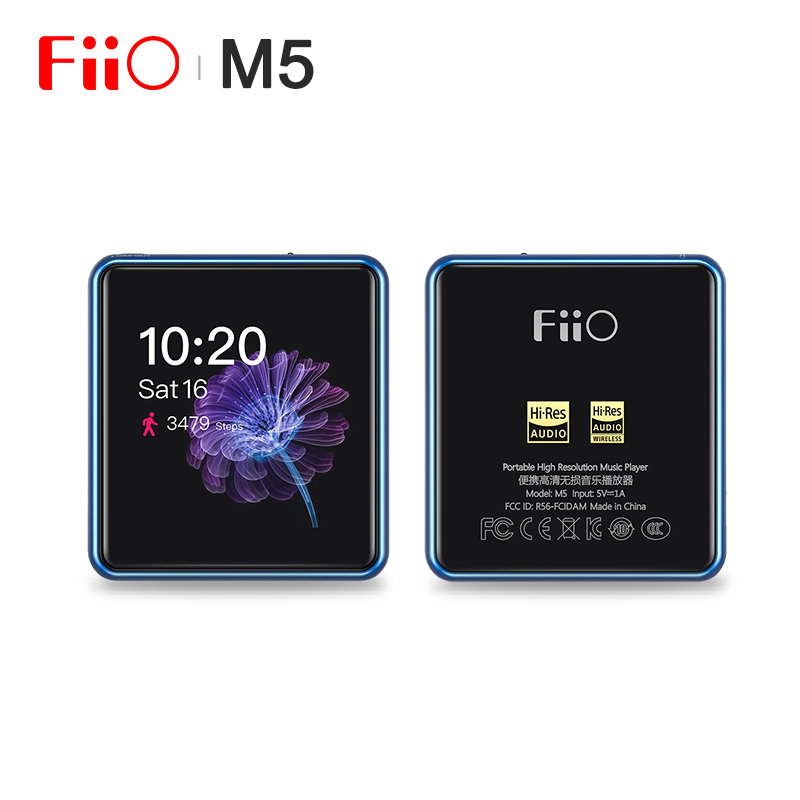 FiiO M5 HiFi Audio AK4377 384kHz-32bit/DSD128 Lossless Hi-Res Bluetooth Portable Music <font><b>Player</b></font> <font><b>MP3</b></font> USB DAC LDAC/AAC/aptX <font><b>HD</b></font>/aptX image
