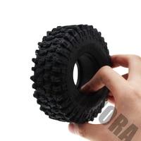 "4PCS 120MM 1.9"" Rubber Rocks Tyres / Wheel Tires for 1:10 RC Rock Crawler Axial SCX10 90046 AXI03007 D90 D110 TF2 Traxxas TRX-4 3"