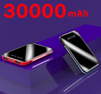 Caricabatterie portatile Mini Power Bank da 30000mah con 2 porte USB Display digitale batteria esterna caricabatterie Poverbank per Xiaomi Samsung