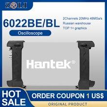 Hantek 6022BE & 6022BL Auto Oscilloscoop Laptop Pc Usb Draagbare Oscilloscoop 2 Digitale Opslag 20 Mhz 48MSa/S Oscilloscoop