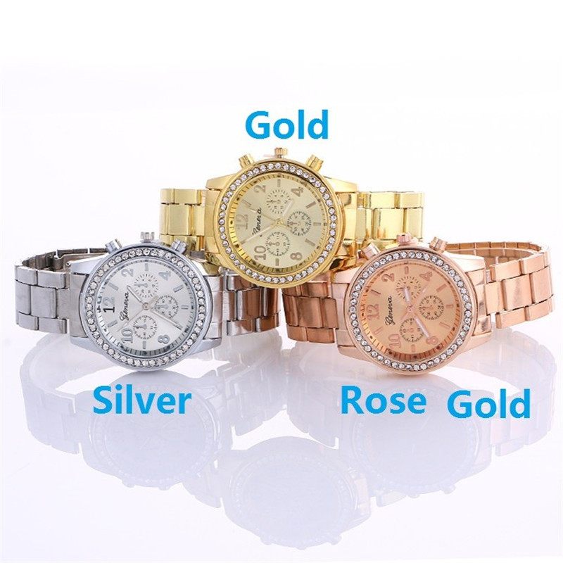 New Geneva Classic Luxury Rhinestone Watch Women Watches Fashion Ladies Women Clock Reloj Mujer Relogio Feminino 2019