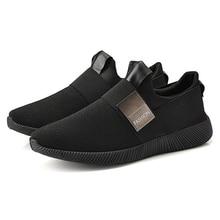 HEFLASHOR New Sneakers Shoes Men Shallow Air Mesh Slip-on Male Sneakers Light Fl