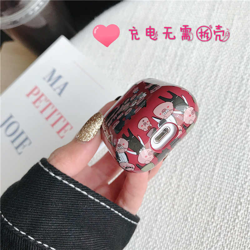 INS Network Red Korean Style AirPods Headset Protecting Cover for Apple Bluetooth Charging Case Women's Cartoon 2 S