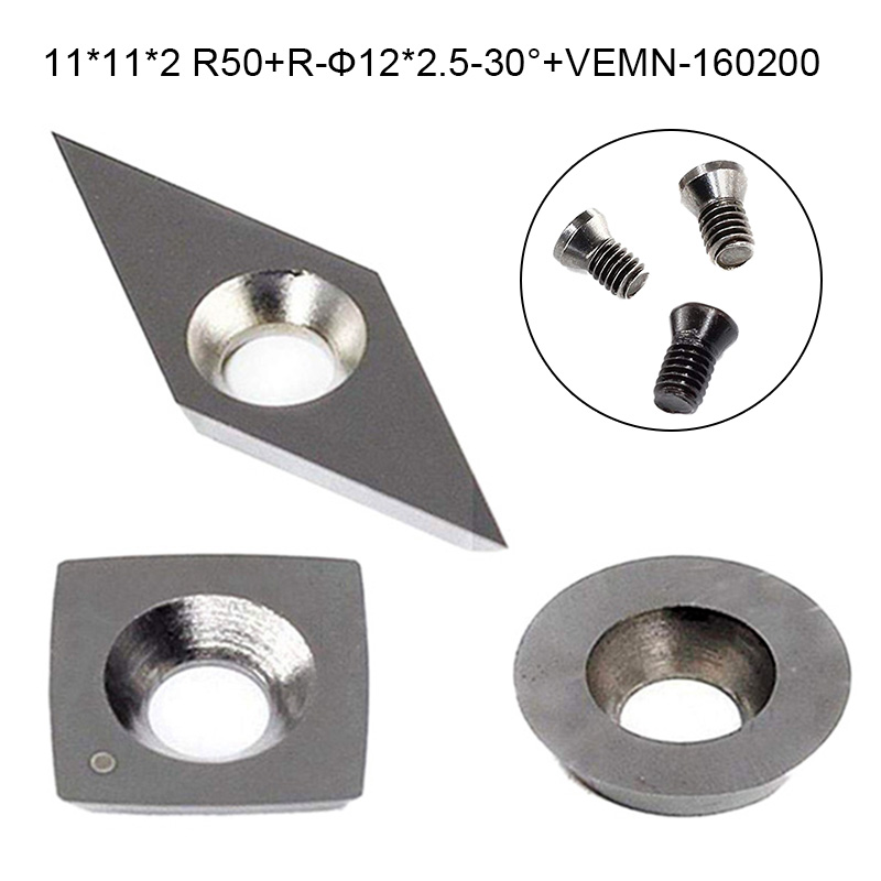 3pcs/set 3 Shapes Durable Tungsten Carbide Cutters Inserts Cutter Set For Wood Turning Working Lathe Machine Tools Accessories
