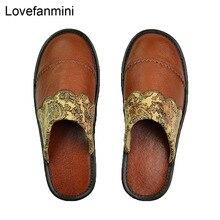 정품 암소 가죽 슬리퍼 커플 실내 미끄럼 방지 남성 여성 홈 패션 캐주얼 싱글 신발 PVC 소프트 솔 봄 여름 512