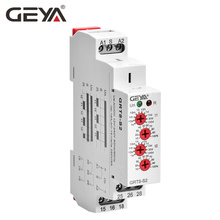 GRT8-S Asymmetric Cycle Timer Relay SPDT 220V 16A  AC/DC12V-240V Electronic Repeat Relay GEYA wcj1 a 16a 220v electronic protection relay black yellow