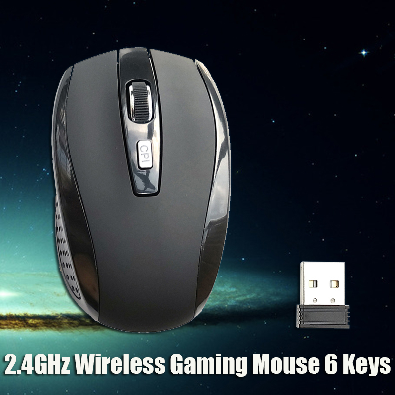 Hot Selling 2.4Ghz Wireless Game Mouse 2000 DPI Optical PC Mause With USB Receiver Mice for PC Laptop 5