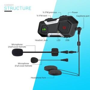 Image 5 - HEROBIKER Motorcycle Helmet Intercom Waterproof Wireless Bluetooth Intercom Motorcycle Headset Interphone For 3 Rides 1200M