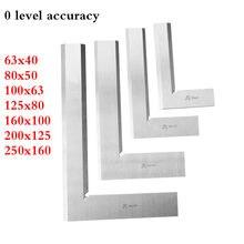 63x40 80x50 100x125x80 160x100x200x125x250x160mm cuchillo de precisión borde escuadra 90 grados Regla De Ángulo Recto herramienta de medición