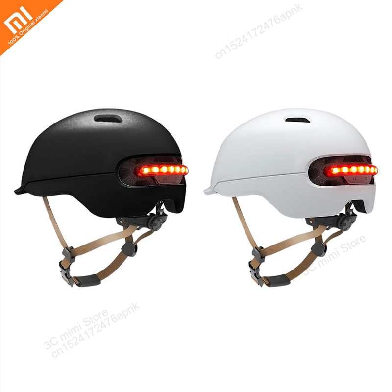 Flash Helmets Matte Long Use Helmet Back Light Mountain Road Scooter For Xiaomi Smart4u Bicycle Smart Black M White M In Stock
