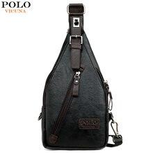 Vicuna Polo Beroemde Merk Theftproof Magnetische Knop Open Lederen Heren Borst Tassen Fashion Travel Crossbody Bag Man Messenger Bag