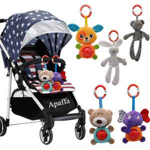 Image 4 - יילוד תינוק קטיפה עגלת צעצוע תינוק רעשנים מוביילים קריקטורה בעלי החיים תליית פעמון חינוכי בייבי 0 12 חודשים speelgoed