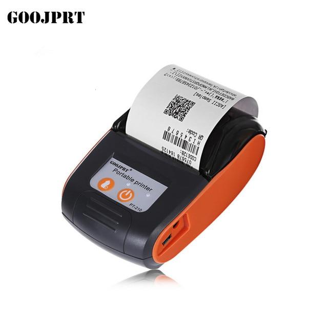 GOOJPRT PT210 Мини карманный беспроводной принтер, термопринтер чеков, Bluetooth, Android, iOS, поддержка телефона ESC / POS