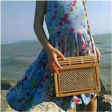 Bamboo Bags for Women 2020 Fashion Shoulder Beach Bag Summer Handbag Ladies Cross body Wooden Bags chains belt ladies bags for women new design fashion women flap cross body bags korean style spring shoulder bag