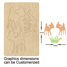 Little Fawn grass cutting die new wooden mould dies for scrapbooking Thickness-16mm