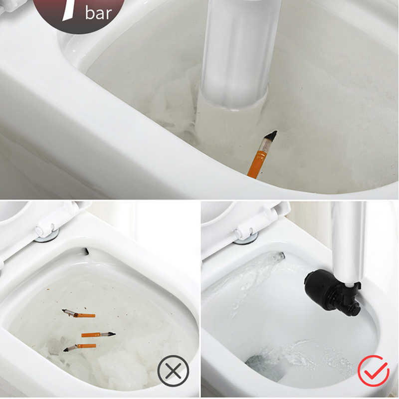 Banyo güçlü tuvalet pompası burgu temizleyici yüksek basınçlı hava drenaj Blaster tabancası güçlü sıhhi tesisat araçları