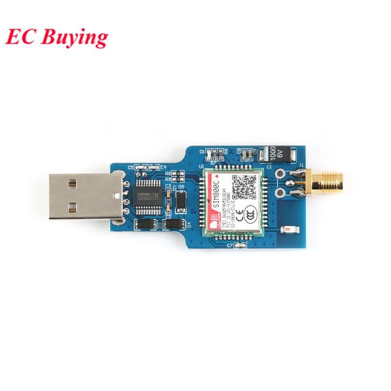 Модуль USB к GSM четырехдиапазонный GSM GPRS SIM800C SIM800 модуль для беспроводной bluetooth-модуль SMS обмен сообщениями с антенной