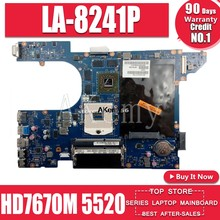 Akemy QCL00 LA-8241P motherboard CN-06D5DG 06D5DG 15R 6D5DG para For DELL Inspiron 5520 7520 laptop motherboard For DELL 5520 HD7670M