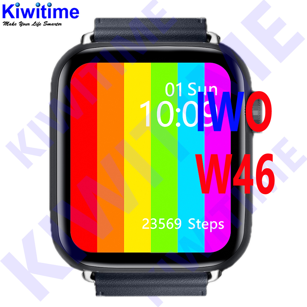 KIWITIME IWO W46 Watch 6 44mm SmartWatch 1 75 inch infinite Screen for phone Heart Rate Temperature Customize Watch Face