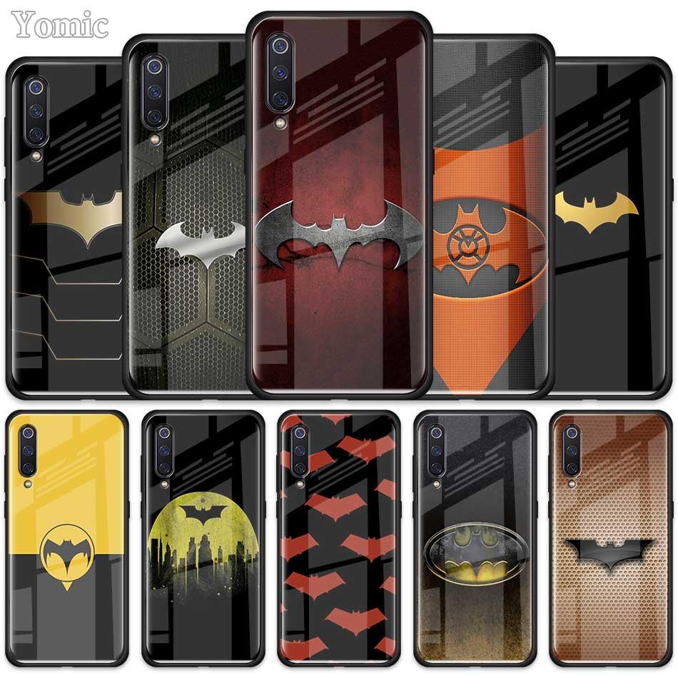 Cool Marvel Batman Logo Case For Xiaomi Redmi Note 10X 9 9S 8 8T K30 K20 Pro K30i Mi A3 9T 10 Youth Tempered Glass Phone Cover