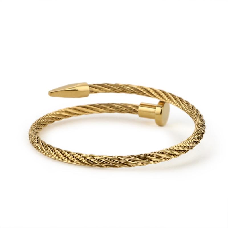 Wholesale High Quality Titanium Steel Men and Women Fashion Couple Bracelets Rose Gold Plated Fashion Jewelry Nail Bracelets|Bangles| - AliExpress