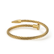 Fashion Jewelry Bracelets Rose-Gold-Plated Women High-Quality Titanium-Steel And Couple