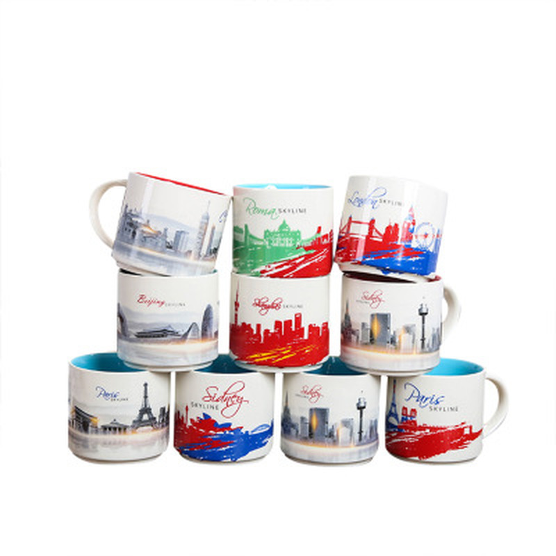 420ml Marble Ceramic Mug City Mug Cities Around The World Travel Coffee Mug Milk Tea Breakfast Cups Creative Home Decor Gifts image