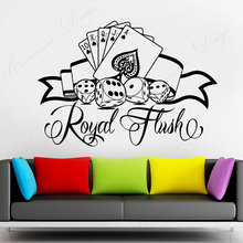 Casino Logo Cards Poker Games Of Chance Wall Sticker Vinyl Interior Decor Room Background Window Decals Removable Murals 4327 travel agency office wall sticker vinyl interior home decor decals say hello to summer voyage murals removable wallpaper 3605