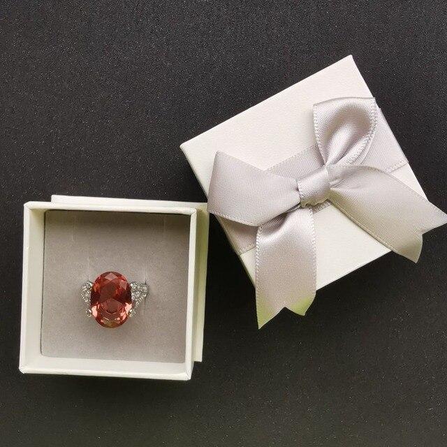 женские кольца из стерлингового серебра 925 пробы ffgems с большим фотография