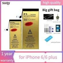 Suqy 0 ciclo para iphone bateria 6 bateria para iphone 6 para iphone 6 plus 6 plus bateria de reparação fazer telefone baterias