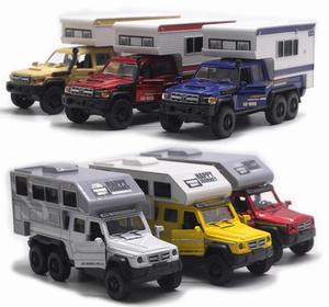 New 1:32 alloy pull back RV model,high simulation sound and light toy,2 doors,beautiful collection ornaments,free shipping(China)