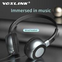 VOXLINK Headset Gaming Kopfhörer Surround Sound Stereo Wired Kopfhörer Leichte mit Mikrofon 3,5mm audio kabel für PC Gamer