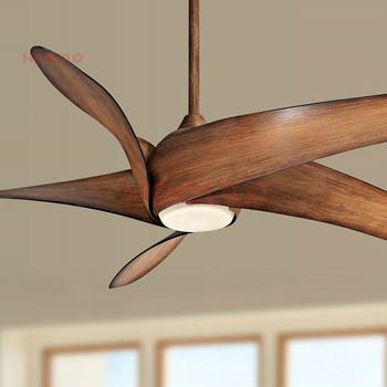 60 inch Size Light Wave Wood Led Ceiling Fan with Remote Control