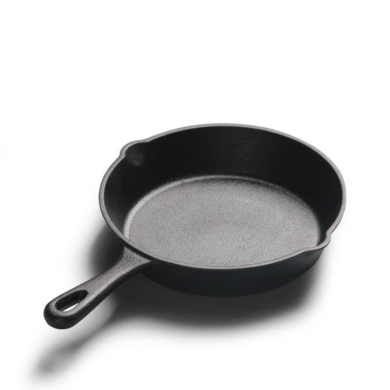 Cast Iron Pot Small  14cm16cm20cm Pan Mini Non-coated Non-stick Pot Frying Pan