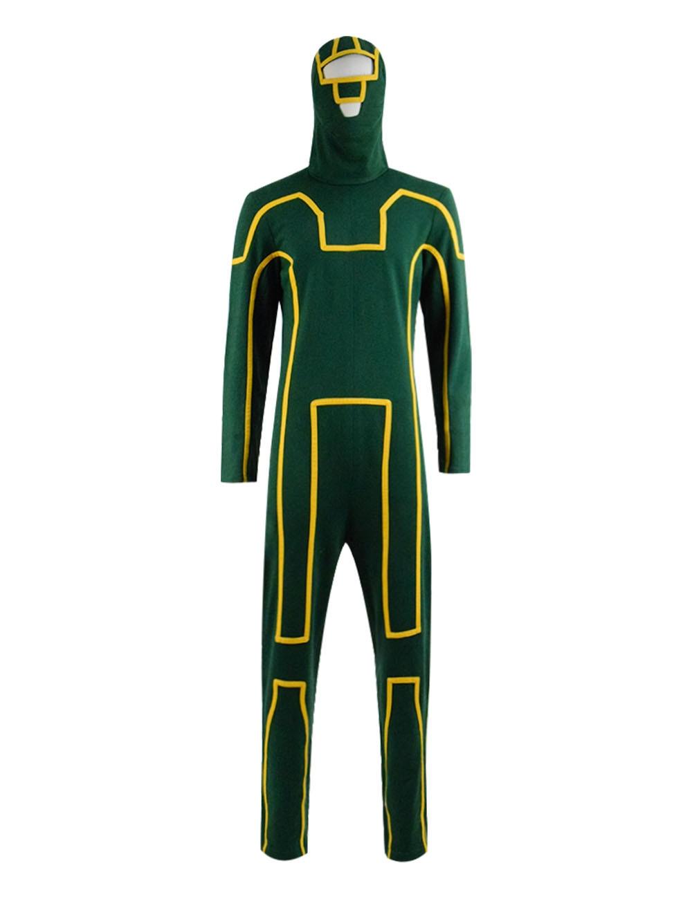 Cosdaddy Halloween Cosplay Kick Green Jumpsuit Dave Lizewski Costume Ass Party Bodysuit Battlesuit For Men
