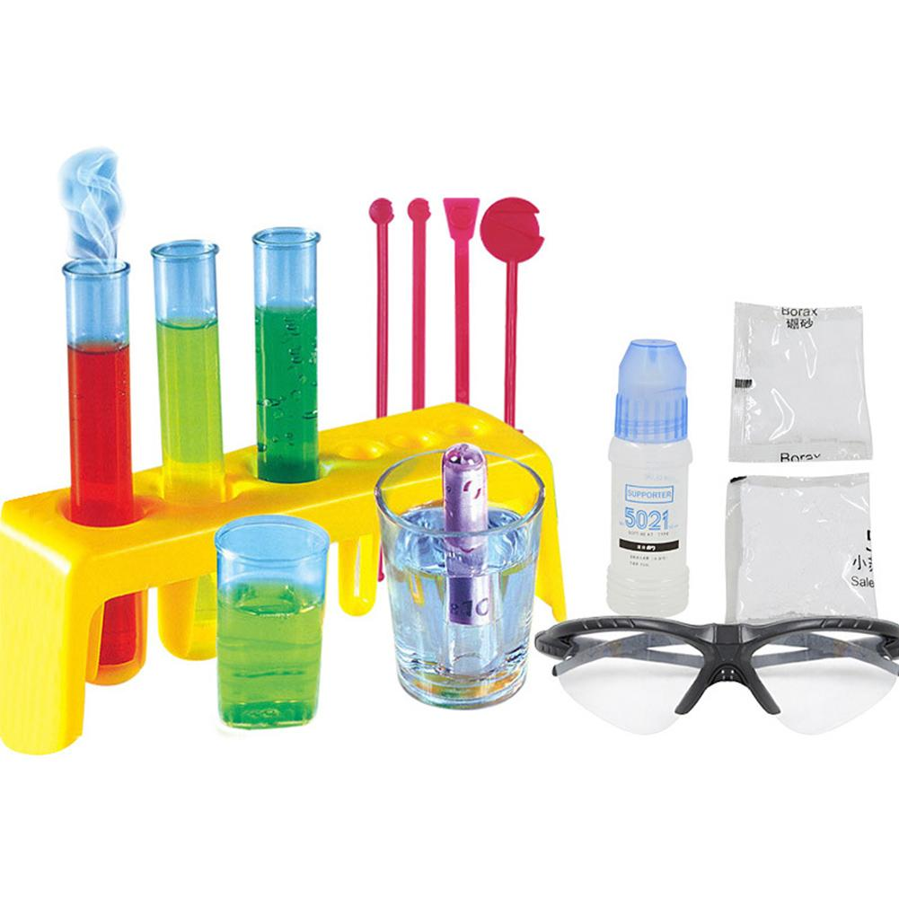Science Experiment Kit Goggles DIY Chemistry Lab Teaching Equipment Toy Physical Early Learning Educational Toys For Children